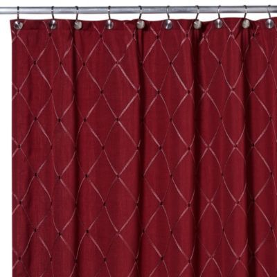 Wine Colored Shower Curtains.Thoroughly Laced With Elegantly Embroidered Elements The