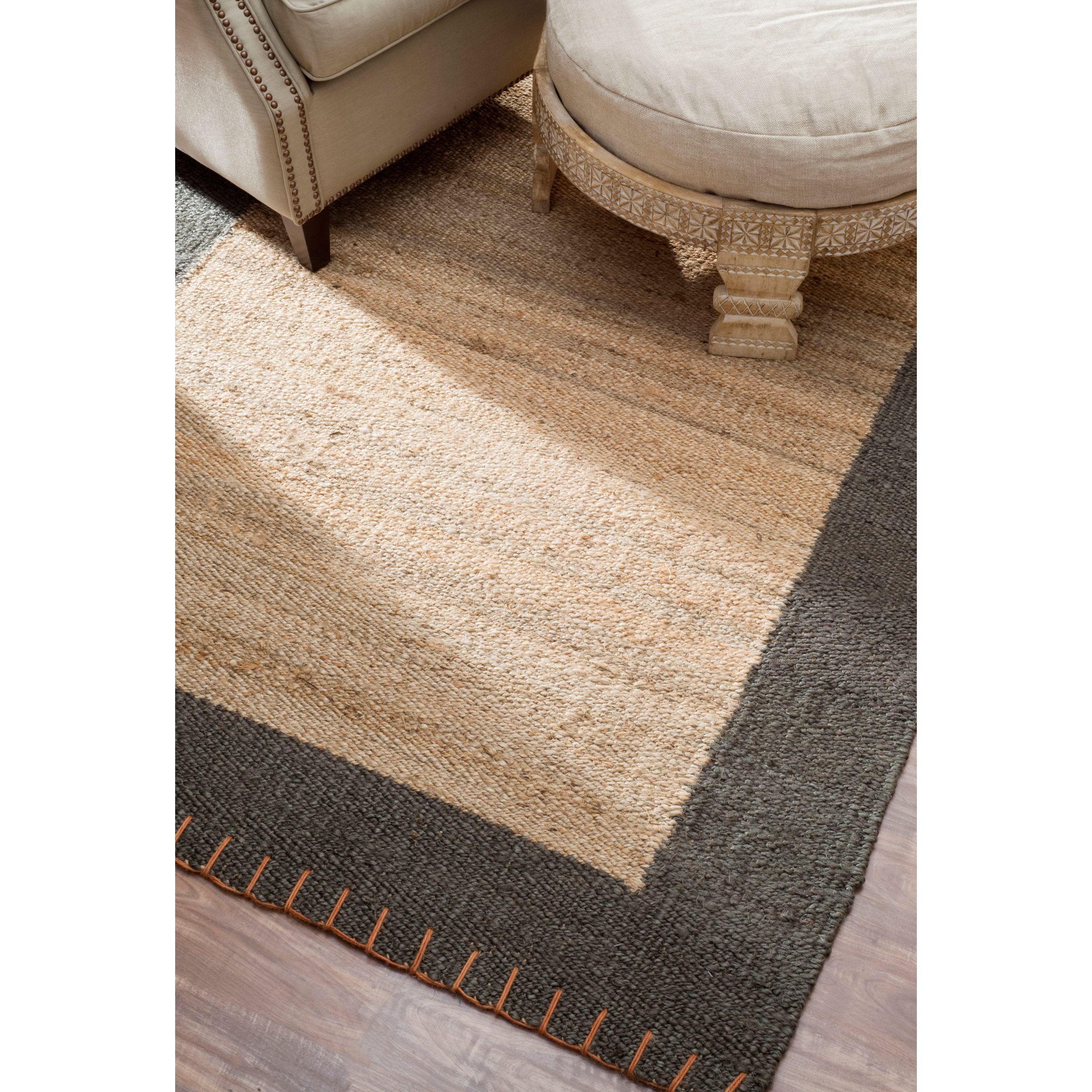 NuLOOM Handmade Texture Stockholm Jute Rug (7'6 X 9'6