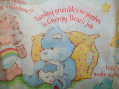 American greeting grumpy bear vintage american greeting care bears american greeting grumpy bear vintage american greeting care bears twin flat sheet all bears with m4hsunfo