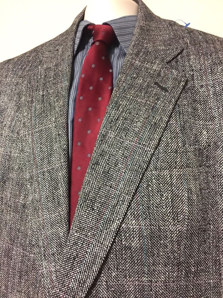 Austin Reed Of Regent Street Sports Coat Blazer Sz 42r 100 Silk Tweed Austinreed Twobutton Silk Tweed Blazers Sport Coats Blazer