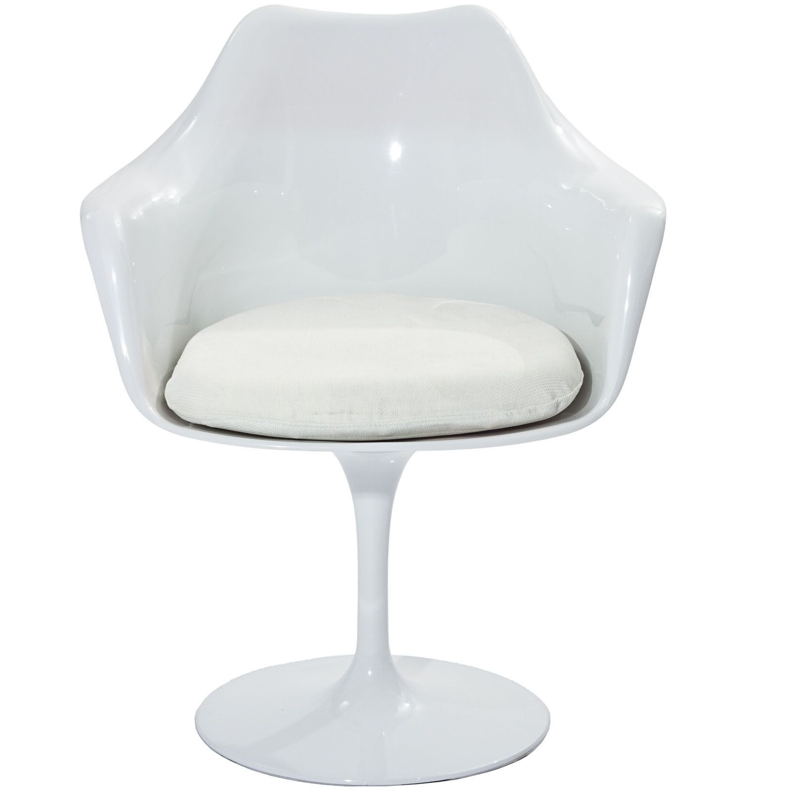 Superb Modway Eero Saarinen Style Tulip Arm Chair With White Andrewgaddart Wooden Chair Designs For Living Room Andrewgaddartcom
