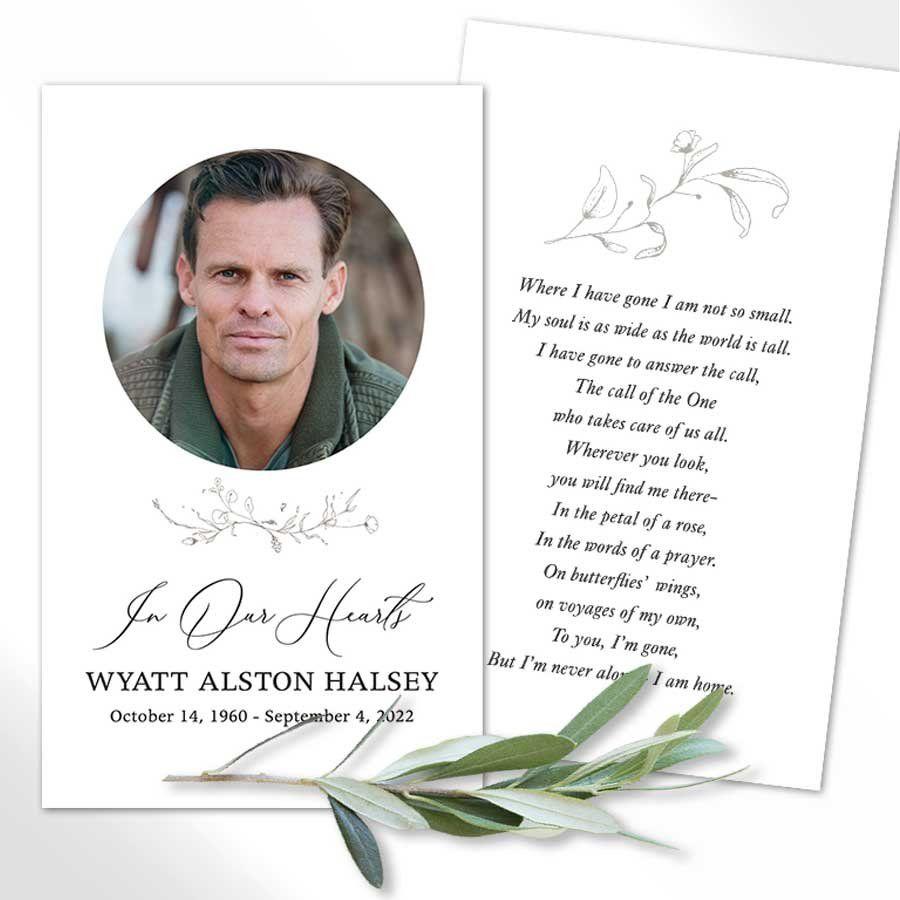 Funeral Mass Cards Printed Photo Remembrance Memorial Keepsakes Memorial Service