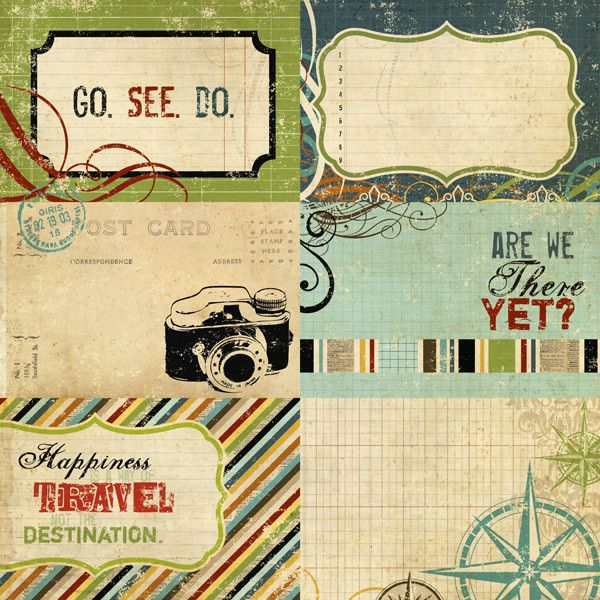 Journaling Card Elements 2 12 x 12 DoubleSided Paper