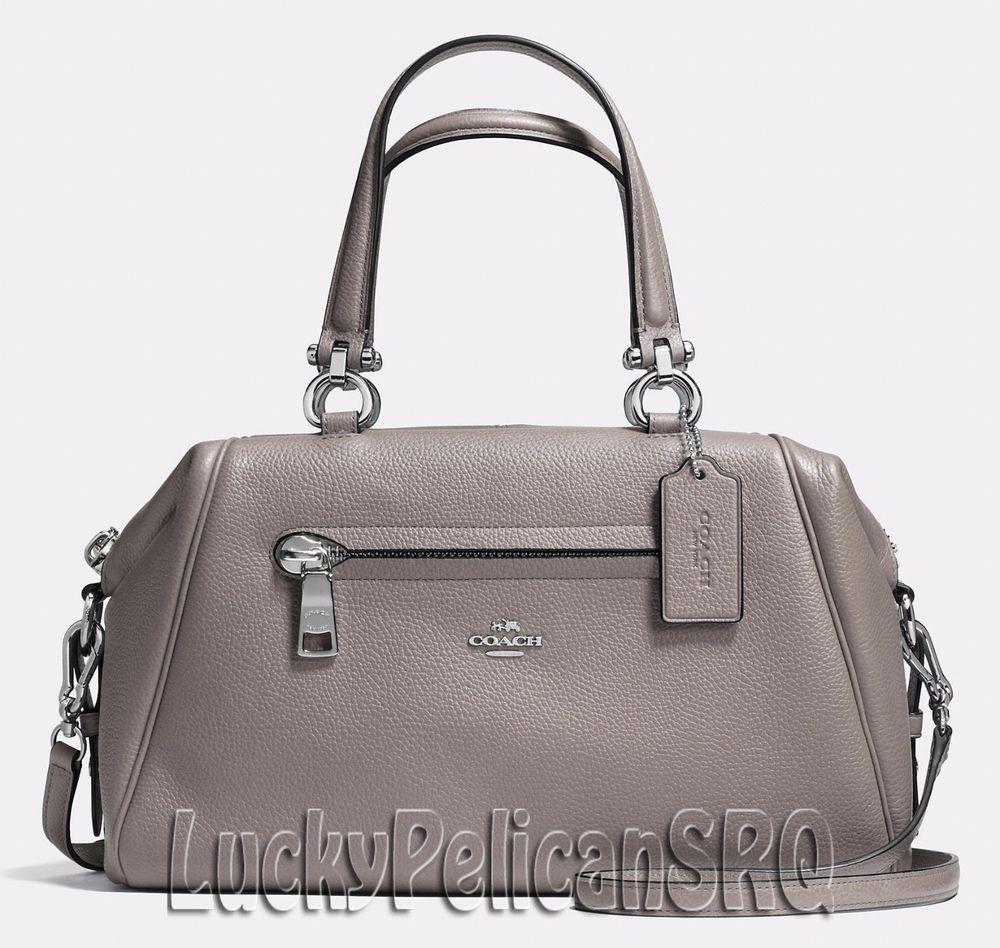 NEW! COACH 37934 Primrose Satchel Bag Handbag Silver/Fog Grey NWT ...