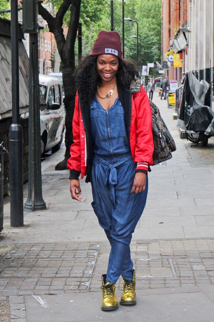 Melissa: Dungarees from Bershka. #blackballad #streetstyle #fashion