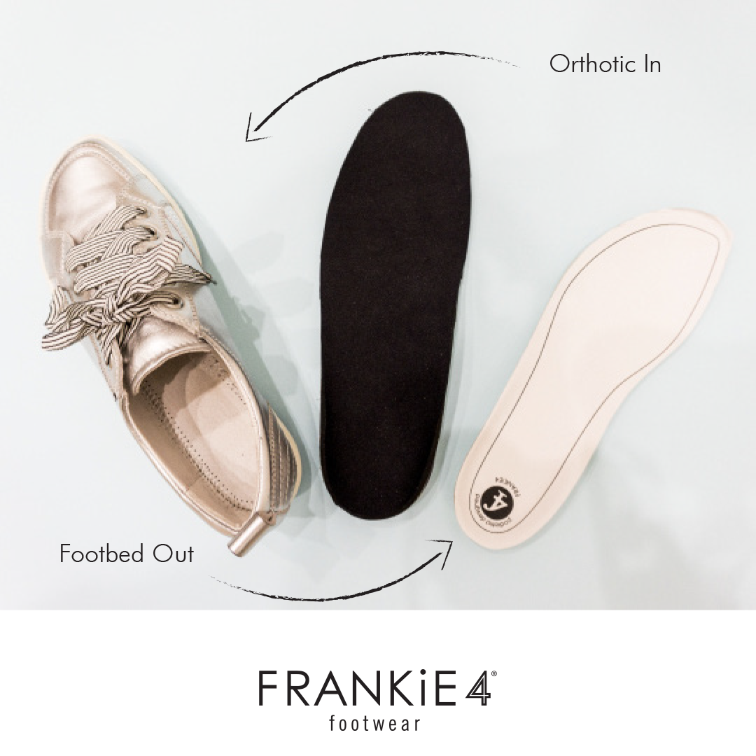 Podiatrists are the gurus when it comes to prescribing orthotics! FRANKiE4 is here to support that! To help complement your treatment, we've saved a special spot for them in some of our shoes! Your patients can simply remove the Functional Footbed and slip in their orthotics, yep, as easy as that!