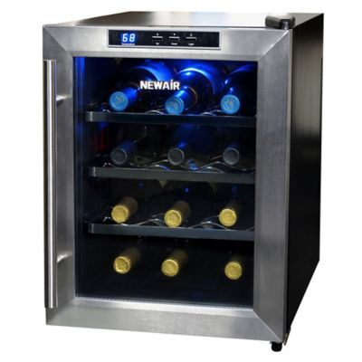 Newair 12 Bottle Single Zone Thermoelectric Wine Cooler In