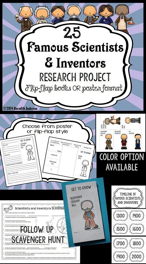 scientist and inventor research project flipping activities and social studies. Black Bedroom Furniture Sets. Home Design Ideas
