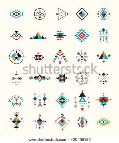 coolTop Geometric Tattoo - Esoteric, Alchemy, boho, bohemian sacred geometry, tribal and Aztec, sacred geom...
