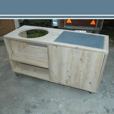 Ongekend big green egg tafel bouwtekening | Rawcreations - Meubel 2 voor IG-05