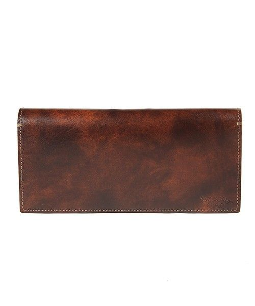 Paul Smith Collection(ポール・スミス コレクション)のLONG BILLFOLD AND COIN WALLET(PC STAIN CALF)【554844 J313】(財布)|ブラウン