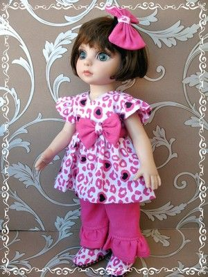 CLOTHES FOR PATSY AND ANN ESTELLE TONNER DOLLS TOP,PANTS,HAIR SNAP AND SHOES!