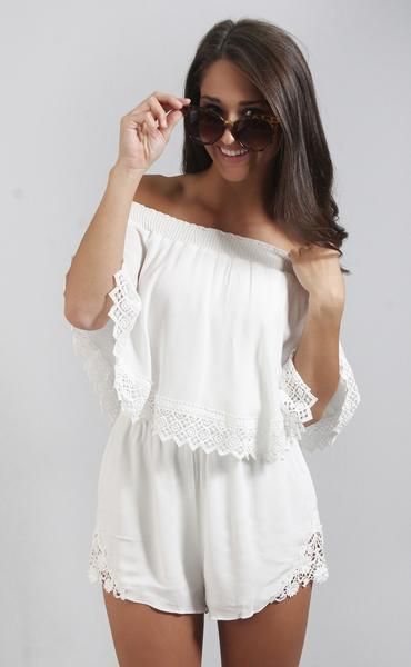 874aab27d5c show me your mumu  rosarita romper - white cloud