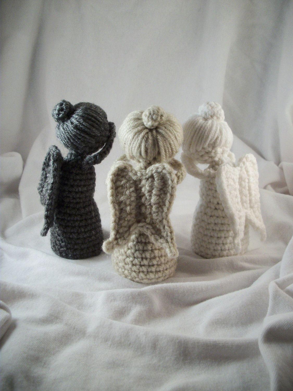 DON\'T BLINK! Crochet Weeping Angel Statue Doll   Engelchen, Häkeln ...