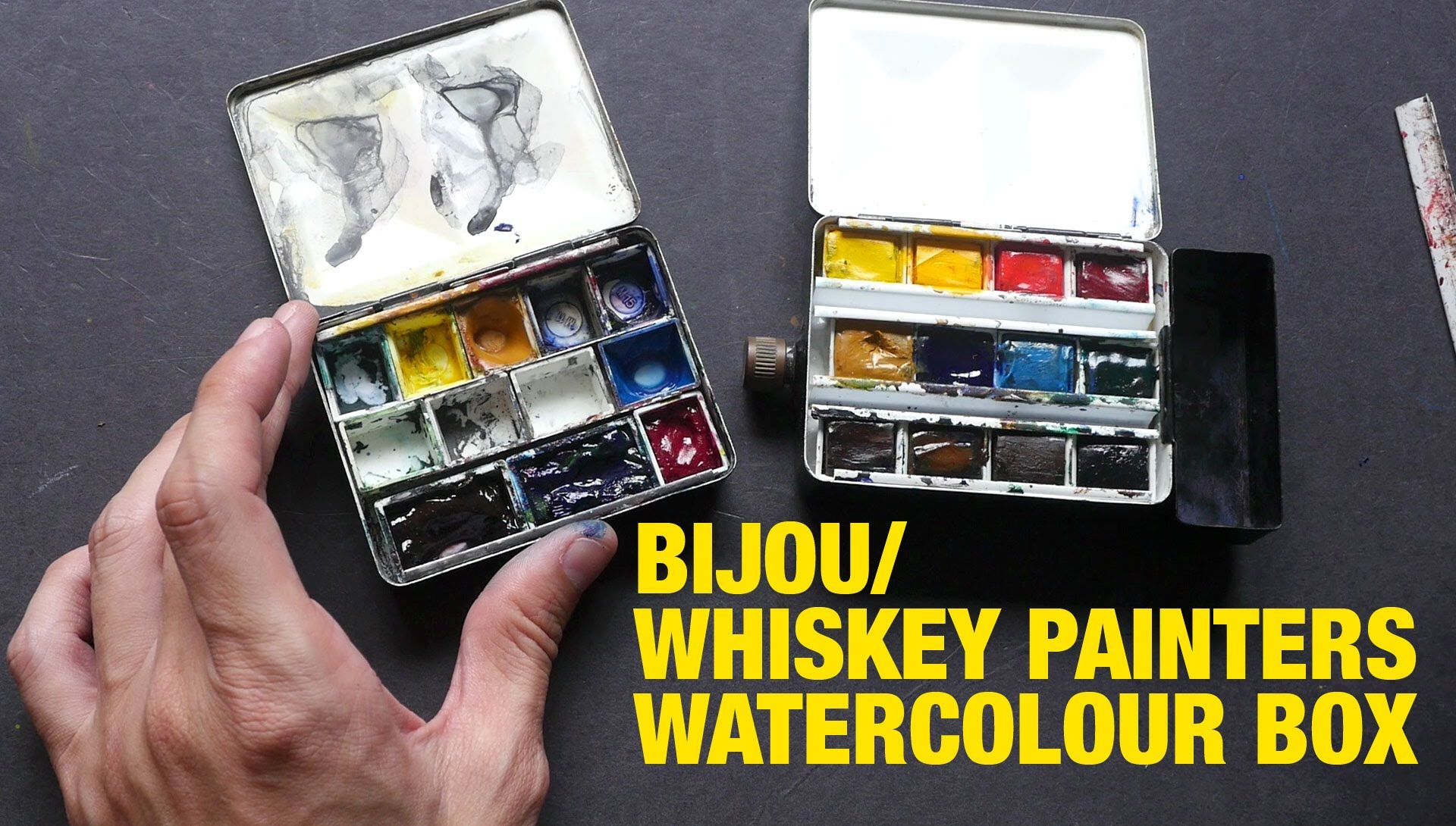 Review Bijou Or Whiskey Painters Watercolor Palette Box