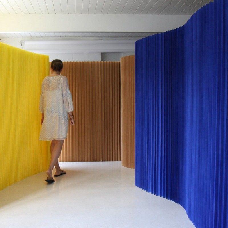 Trennwand in verschiedenen Farben für das moderne Wohnzimmer - moderne trennwande wohnzimmer