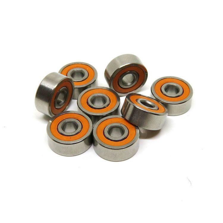 Smr63c 2rs 3x6x2 5 Mm Ceramic Hybrid Abec 7 Orange Seal Bearings Ceramics Orange Stainless Steel Rings