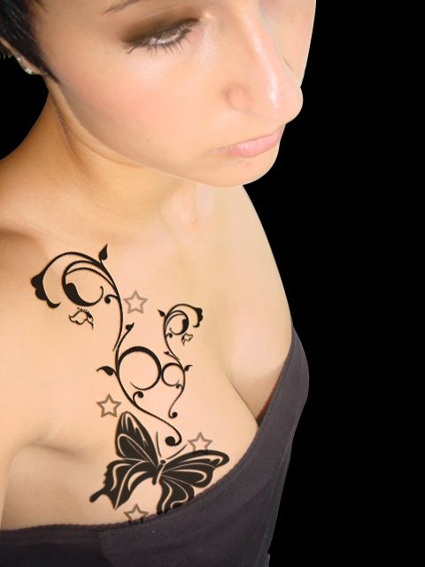 Star Tattoo Designs Chest Tattoos For Women Girly Tattoos Small Girl Tattoos