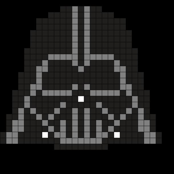 Darth Vader Head By Tashar H On Kandi Patterns Star Wars Quilt Star Wars Crochet Darth Vader Quilt