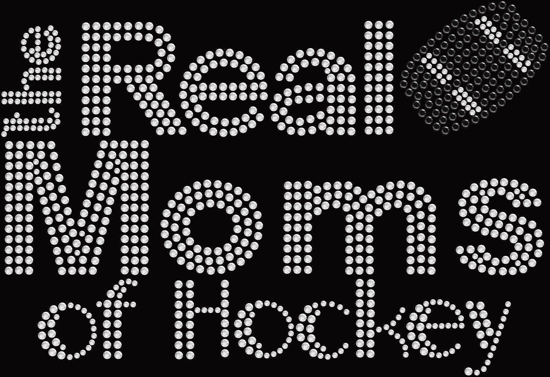 Bling Real Moms of Hockey T shirt