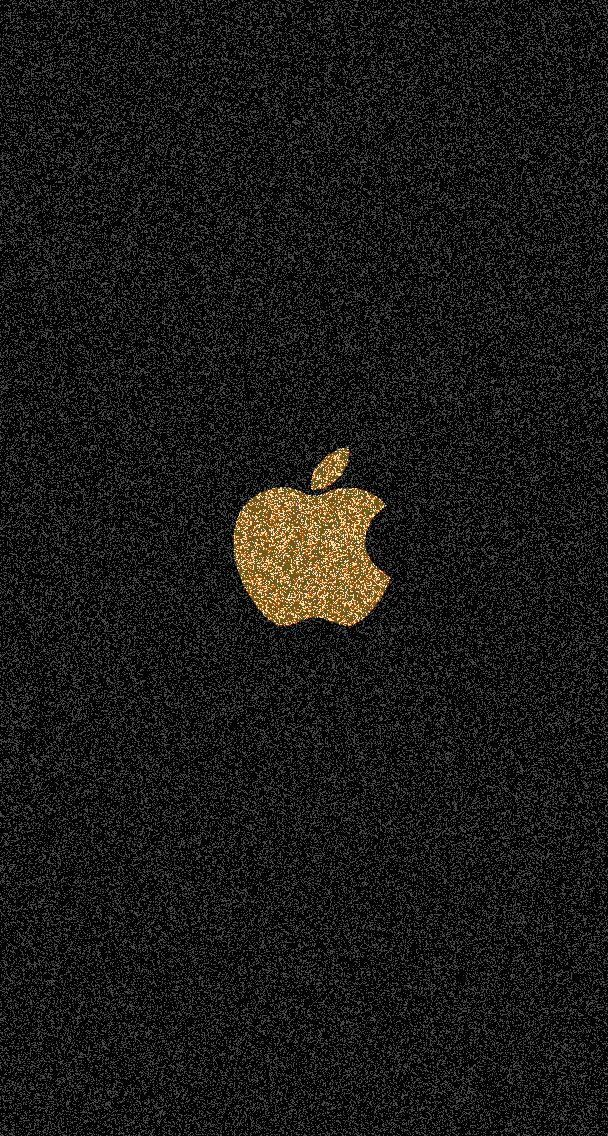 Gold Glitter Apple Gold Wallpaper Iphone Apple Logo Wallpaper
