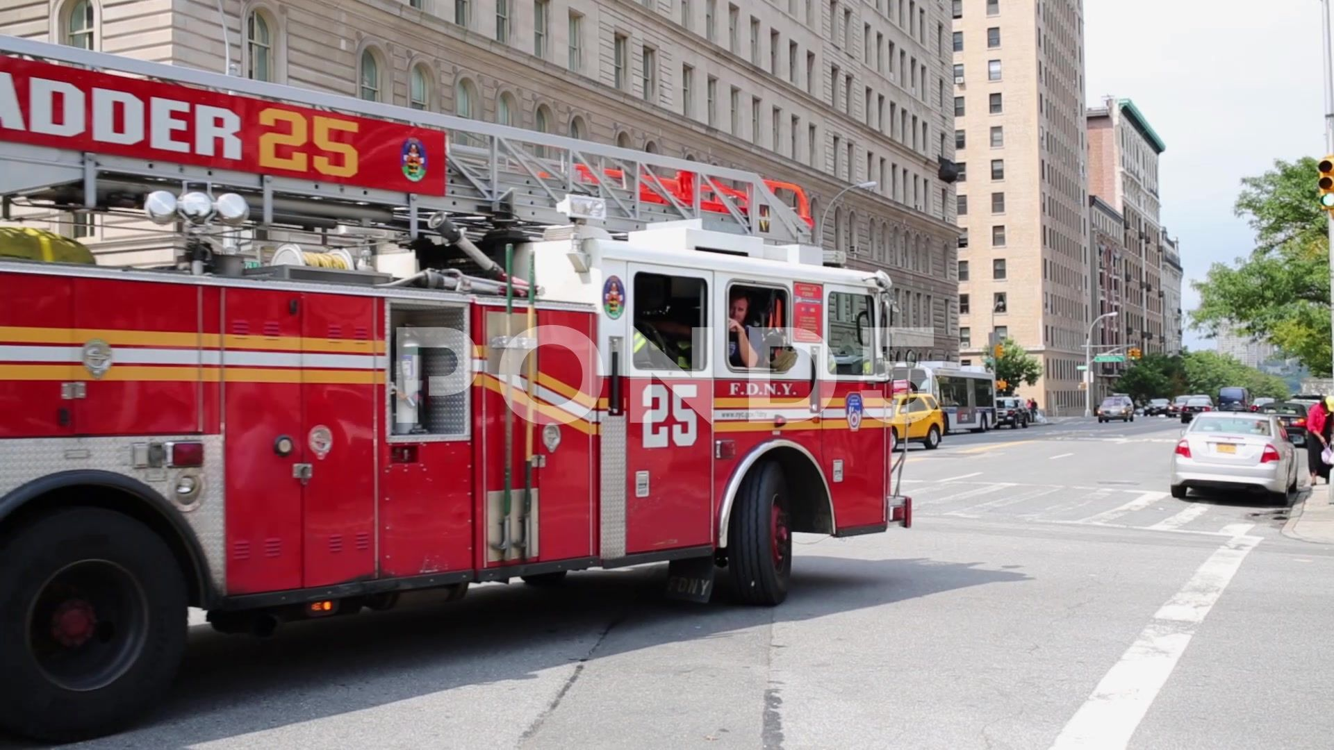 Ladder Truck Of Fire Department Of New York Stock Footage Fire Truck Ladder Department Fire Department Trucks Fire