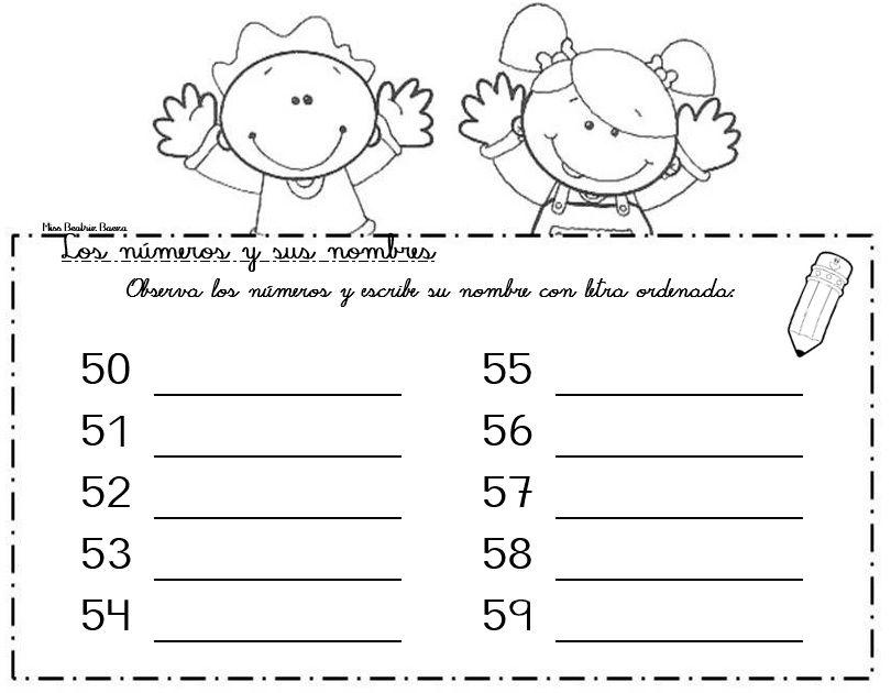 50 Al 59 Escritura De Números Matemática Primaria La Familia Del