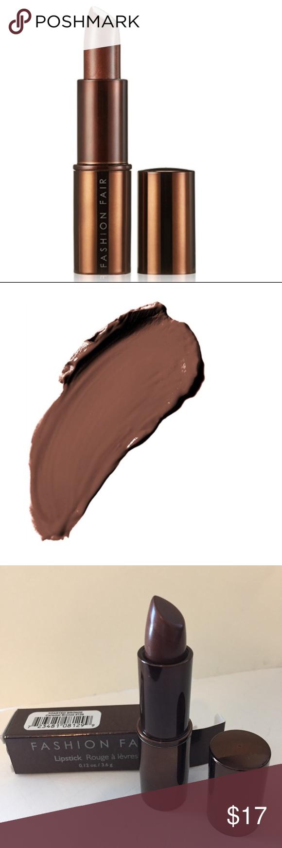 FASHION FAIR Lipstick Full size Toasted Bronze FASHION