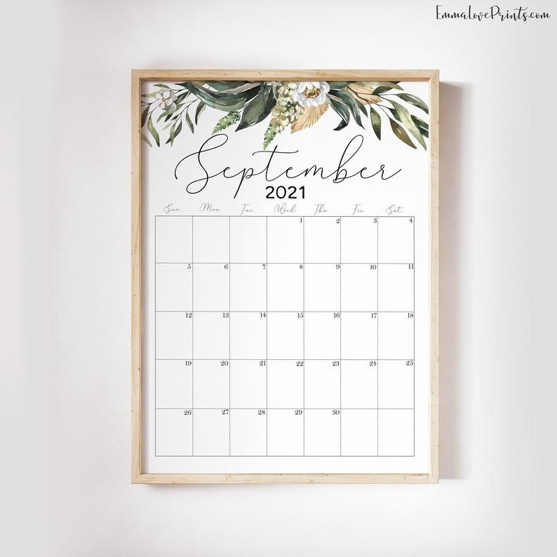 Printable Wall Calendar 2021 Watercolor Calendar 2021 Etsy En 2020