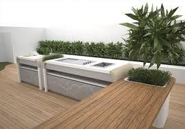 Moderne buitenkeuken roof tops outdoor kitchen