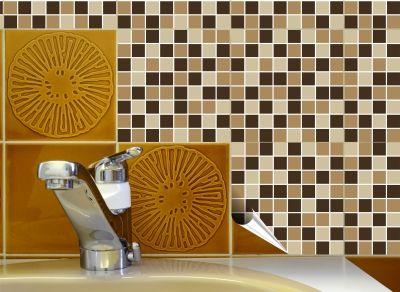 Fliesenaufkleber, Fliesenbilder Und Fliesenlack   Fliesenaufkleber FoLIESEN    Fliesenaufkleber Mosaik   FoLIESEN Fliesenaufkleber Mosaik 10c