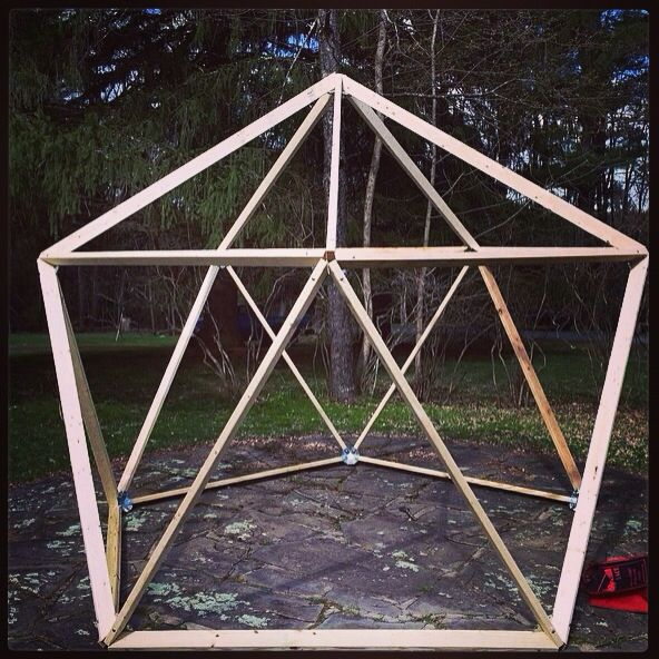 Wood Geodesic Dome Plans: Geo Dome Greenhouse In The Making!