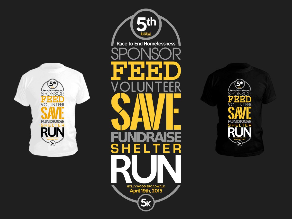 T Shirt Design By Stierney For 5k Race To End Homelessness 5th