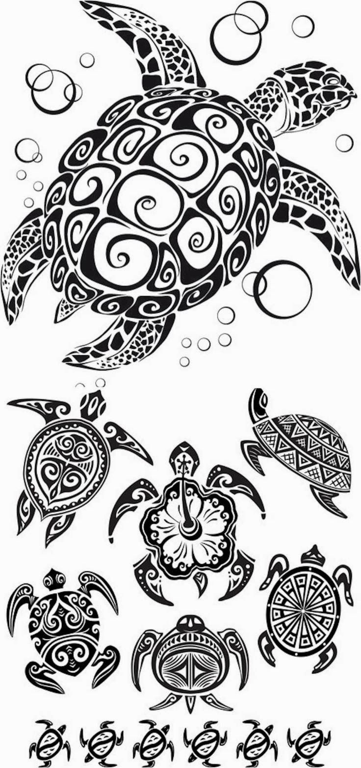 turtle tattoo stencils mandalas and coloring pages pinterest