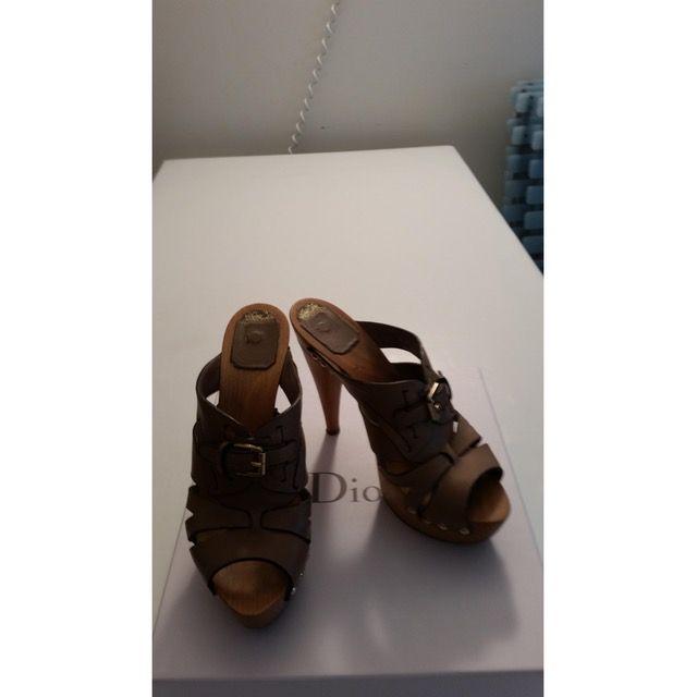 DIOR Leather clogs