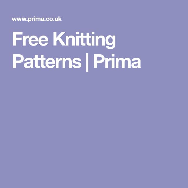 Free Knitting Patterns Prima Things To Wear Pinterest