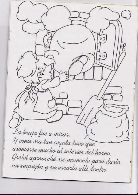 Dibujos Para Colorear Maestra De Infantil Y Primaria La Casita De Chocolate Hansel Y Gretel Dibujos Del Cuento Co Fichas Preescolar Hansel Y Gretel Fichas