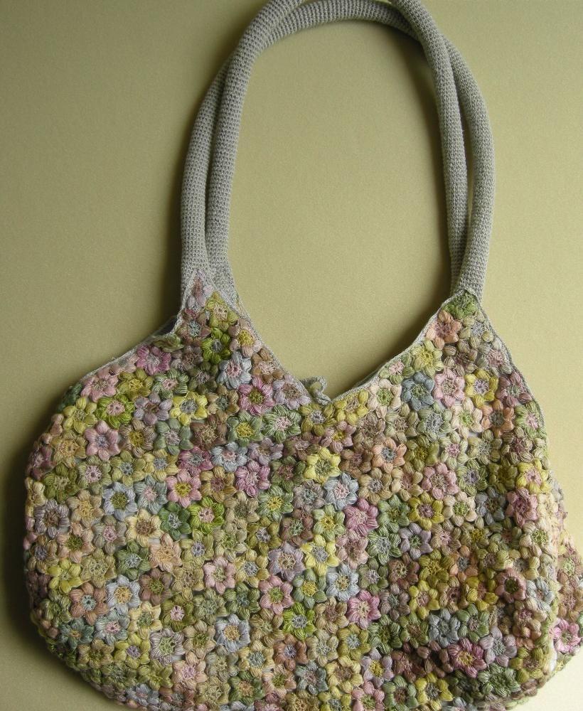 Freesias Linen Bag | Crochet bags | Pinterest | Tasche stricken ...