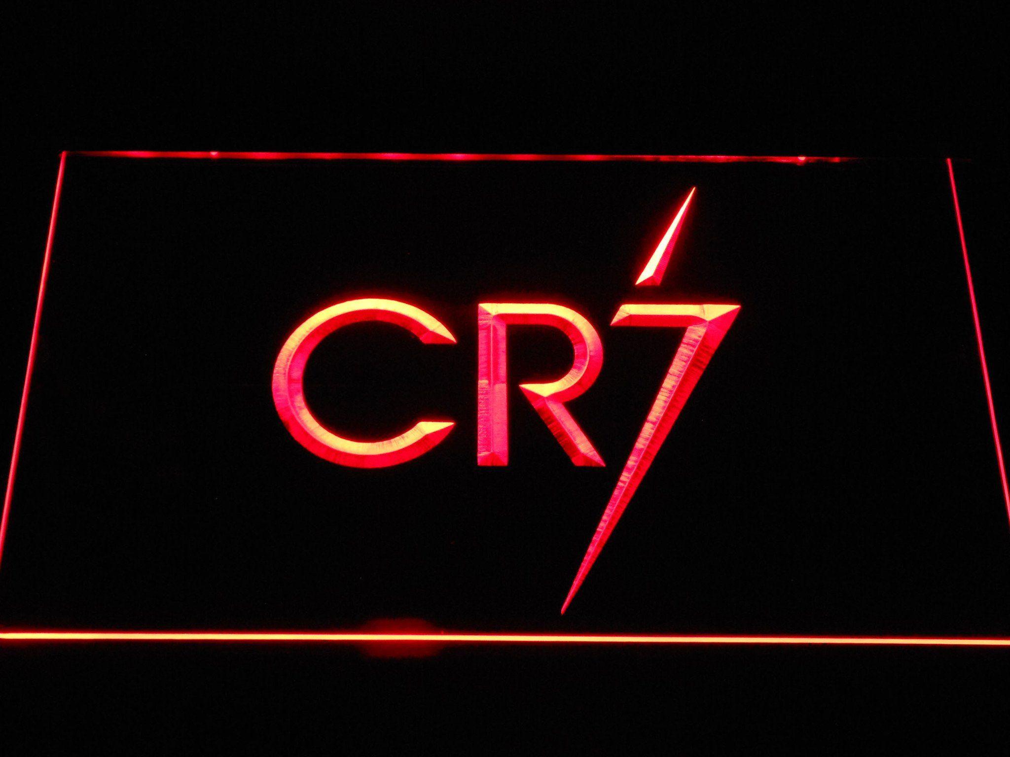 Real Madrid Cf Cristiano Ronaldo Cr7 Logo Led Neon Sign Neon Signs Led Neon Signs Cristiano Ronaldo Cr7