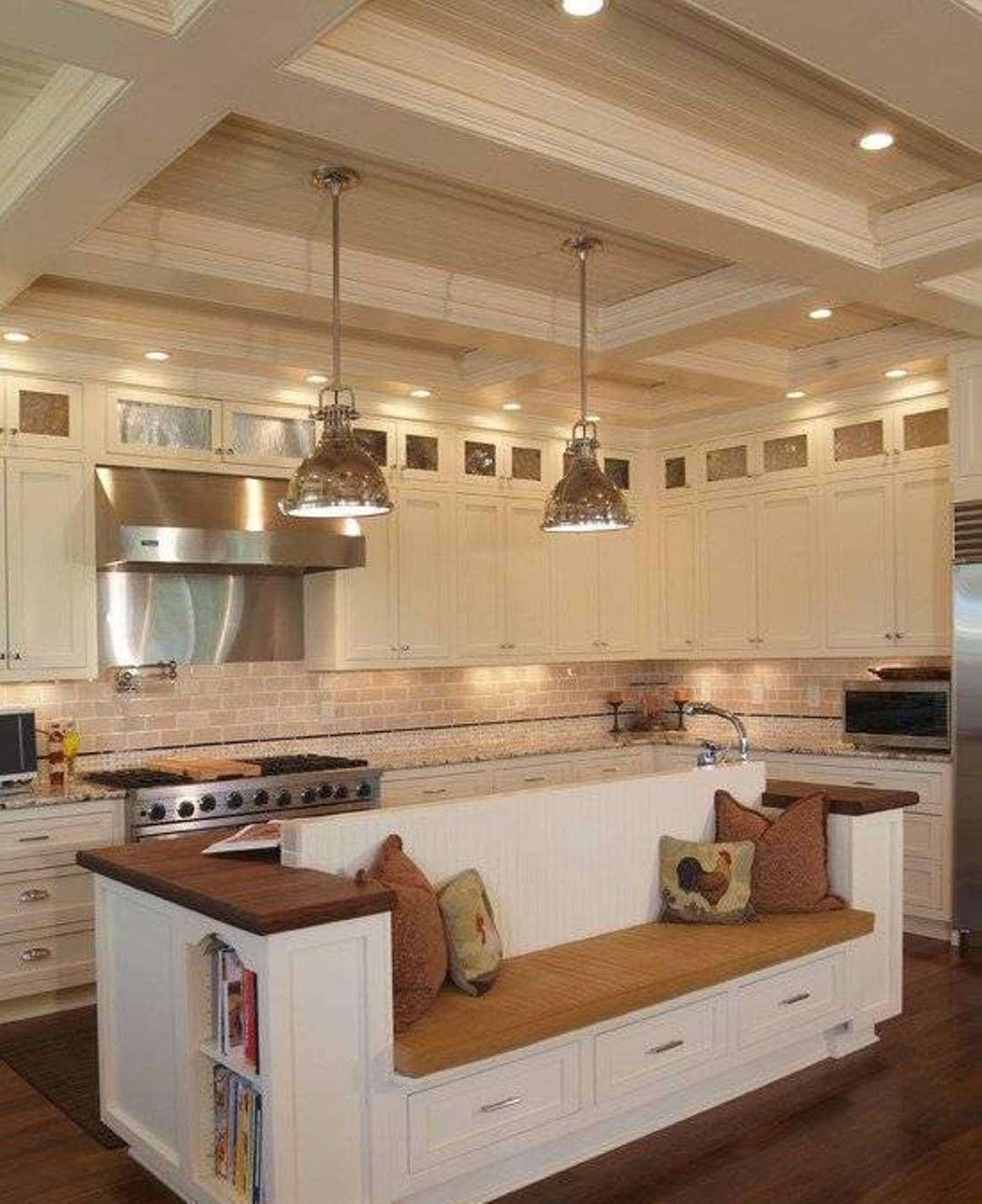 Kitchen , Built In Seating Kitchen Benches : Built In Seating Kitchen Bench Island