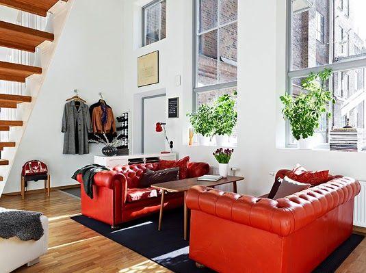 Perfect IDEAS DECO: Cómo Decorar El Salón Con Un Sofá Rojo