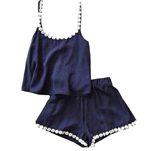 Zeagoo® Womens Casual O-neck Sleeveless Straps Tank Tops and Shorts Set: Amazon.co.uk: Clothing