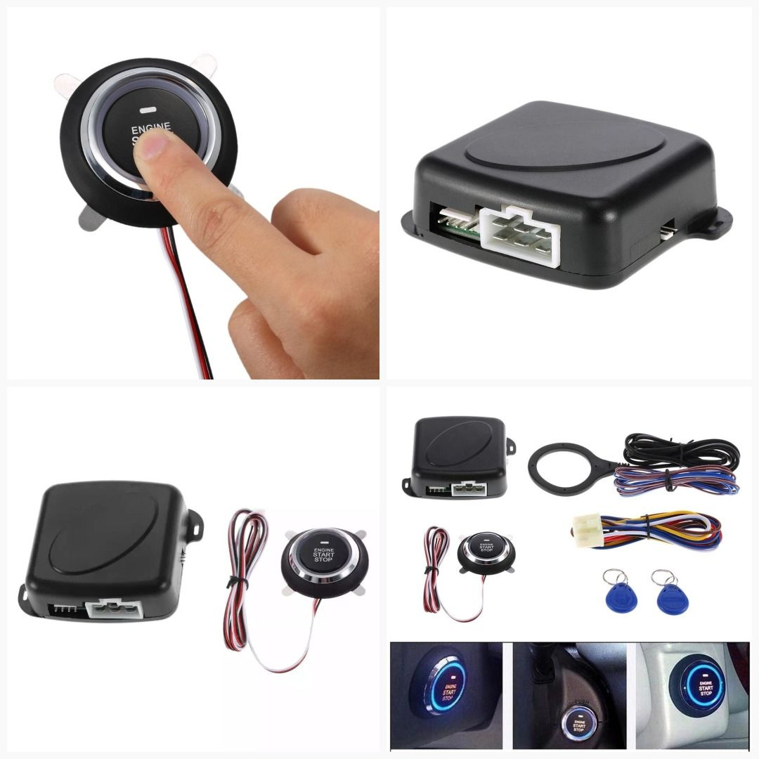 Car Electronics Auto Car Alarm Engine Push Button Start Stop Rfid Lock Ignition Switch Keyless Entry System Starter Anti-theft System