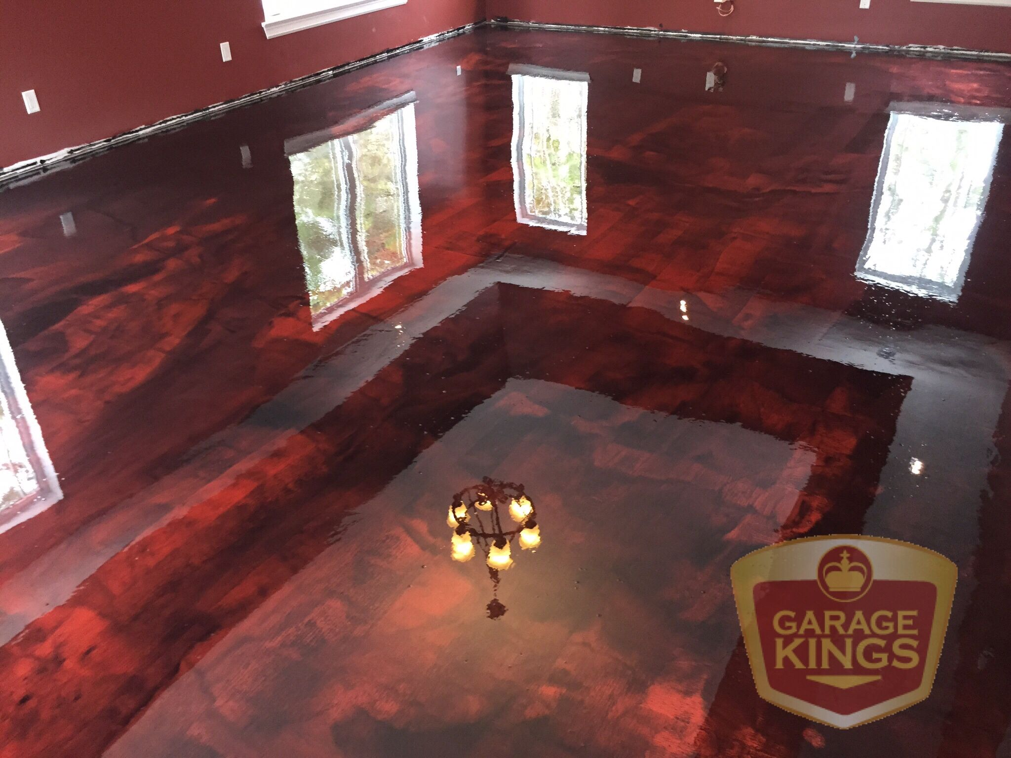 3d Touch Wallpaper House Decor Ruby Red Metallic Epoxy This Was A Fun Job It S Always