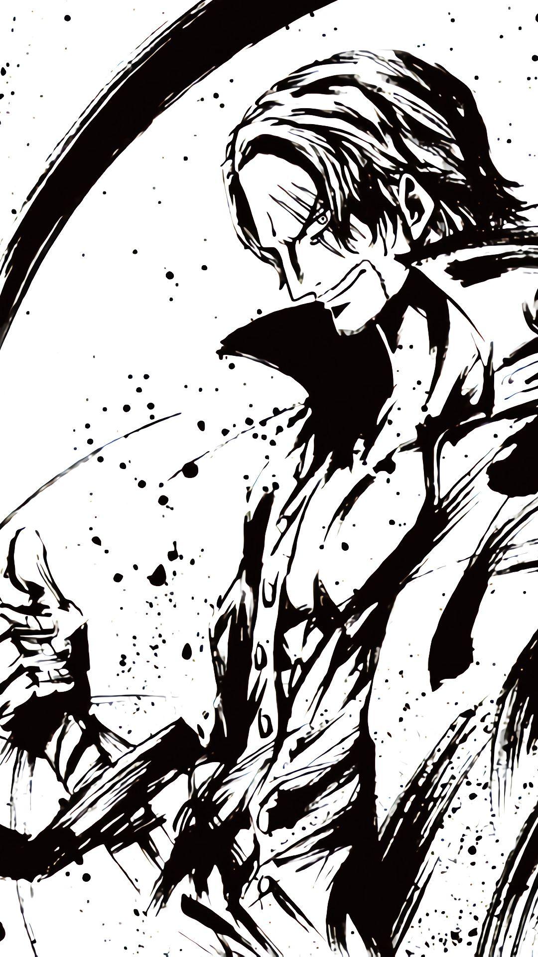 Shanks 白黒の壁紙 かっこいい 壁紙 アニメ シャンクス