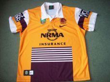 d6f57cc5 2015 Brisbane Broncos Heritage Rugby League Shirt Australia Adults ...