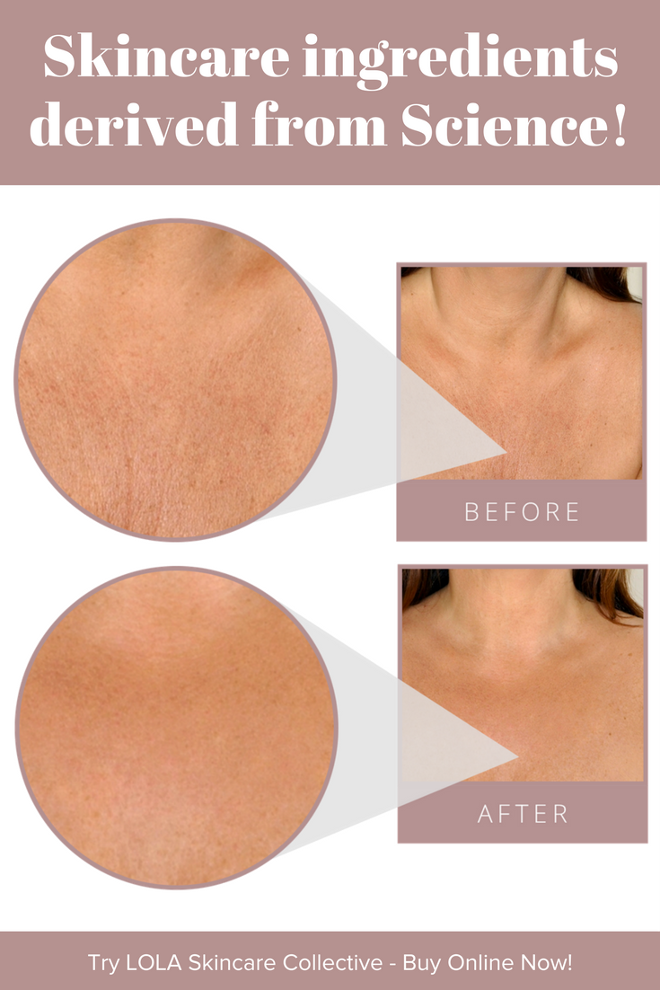 Powerful Science Derived from Nature! Heal décolletage wrinkles with proven ingredients.