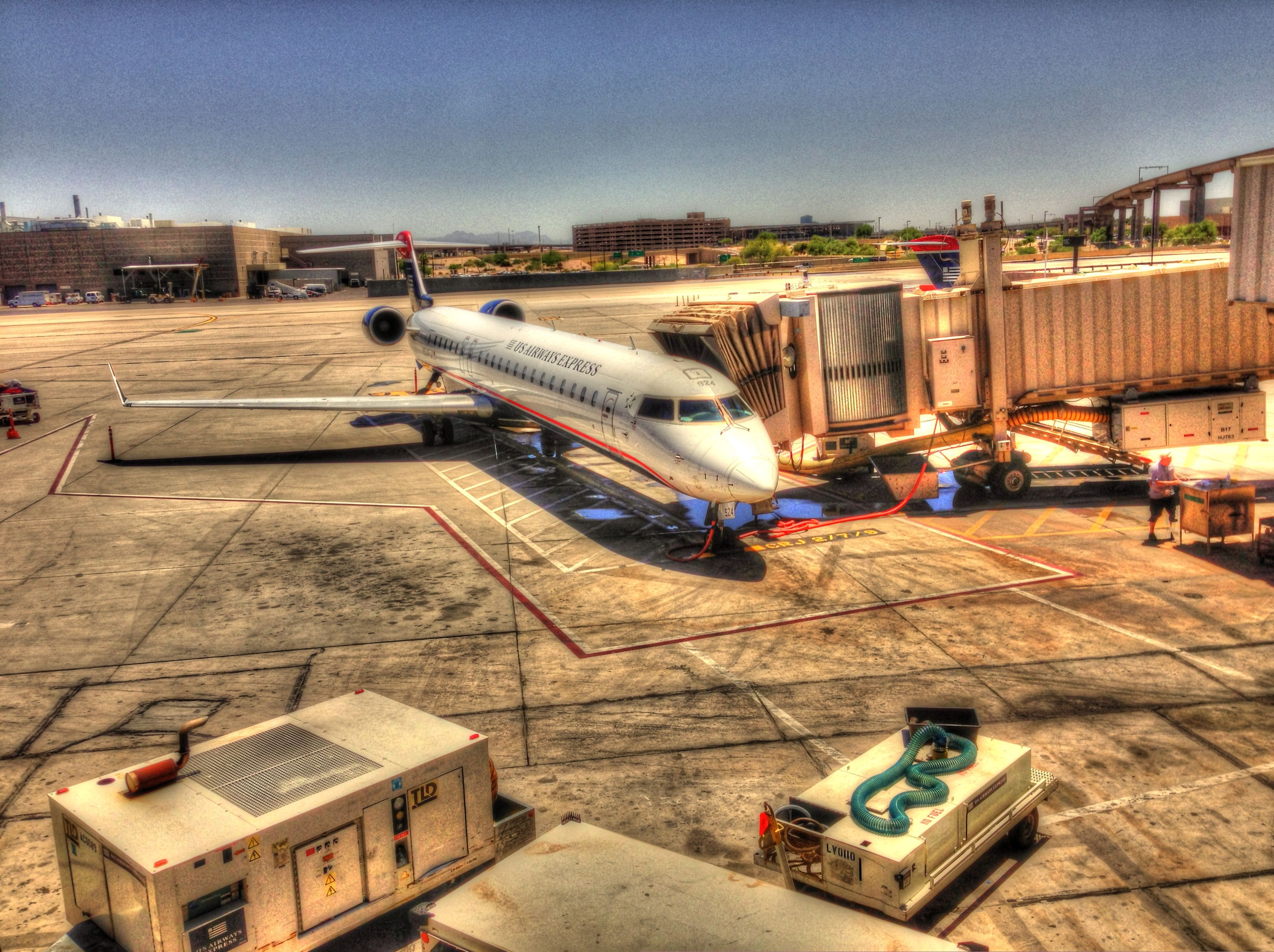 U.S. Airways Canadair CRJ at Phoenix Sky Harbor International Airport.