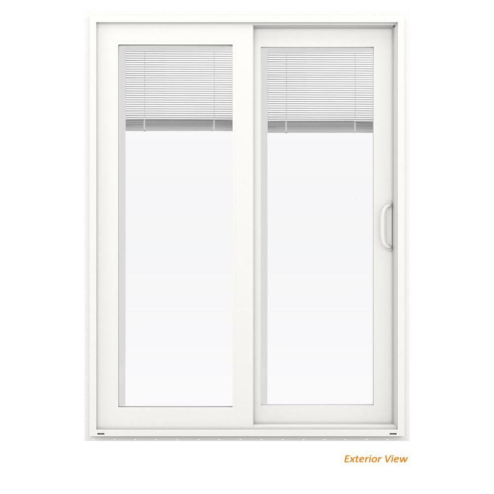 Jeld Wen 60 In X 80 In V 4500 White Vinyl Right Hand Full Lite