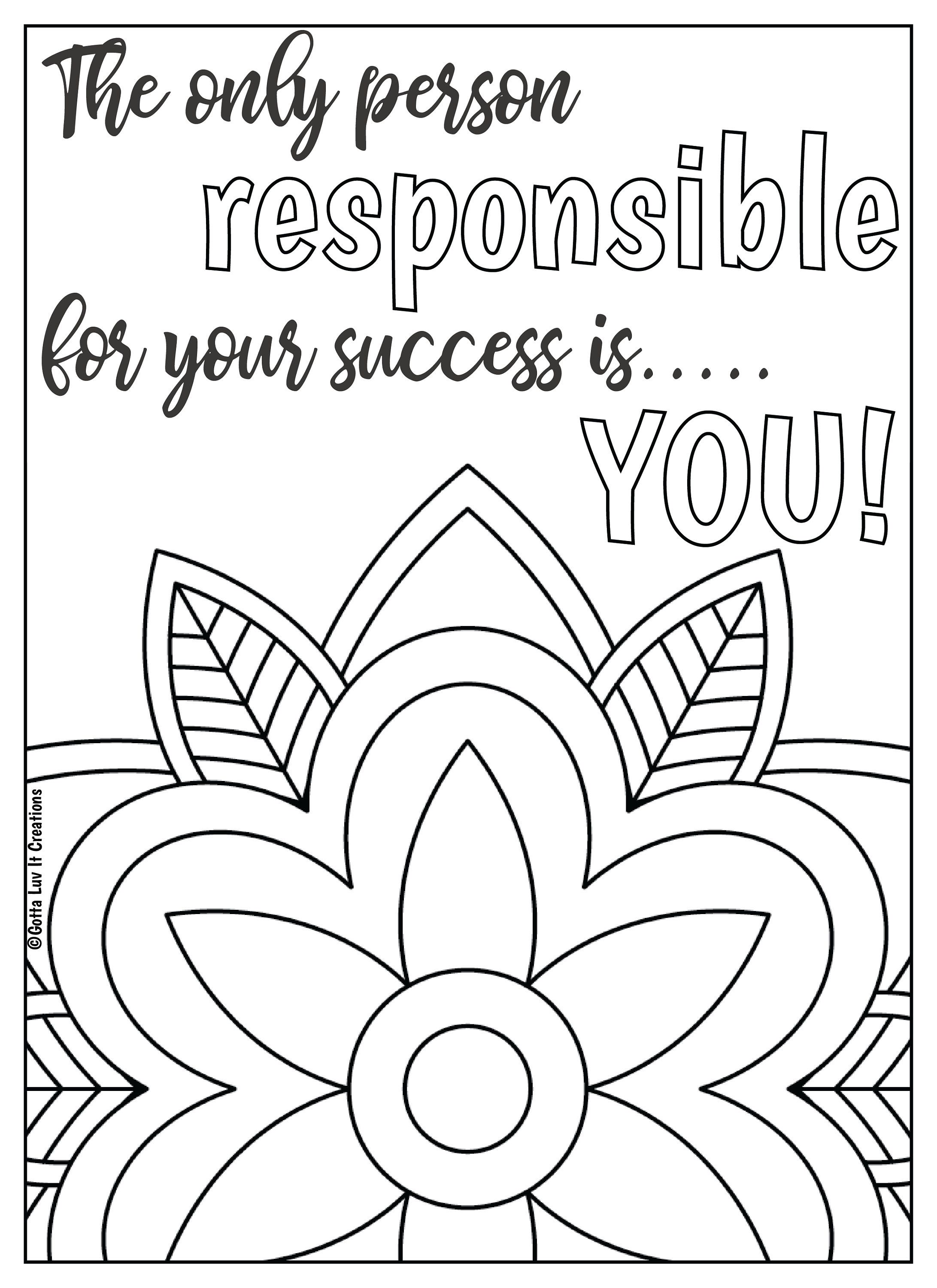 - 10 Mandala Motivational Coloring Pages Coloring Pages, Quote
